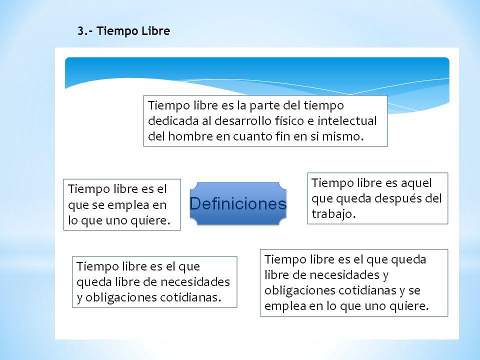 3.- Tiempo Libre