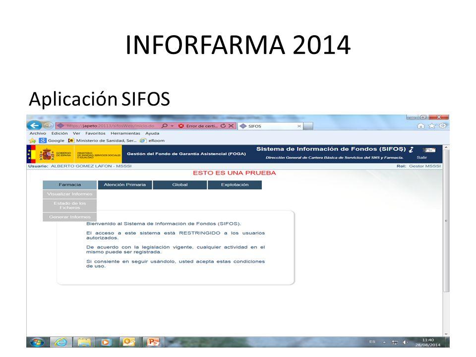INFORFARMA 2014 Aplicación SIFOS