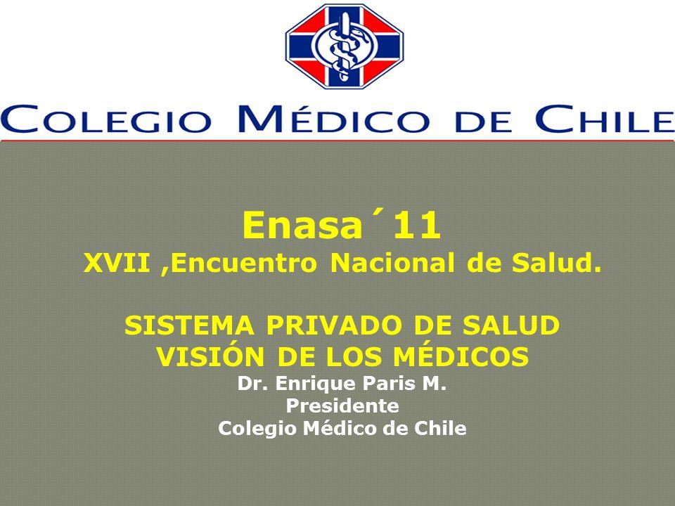 Enasa´11 XVII,Encuentro Nacional de Salud. SISTEMA PRIVADO DE SALUD VISIÓN DE LOS MÉDICOS Dr.