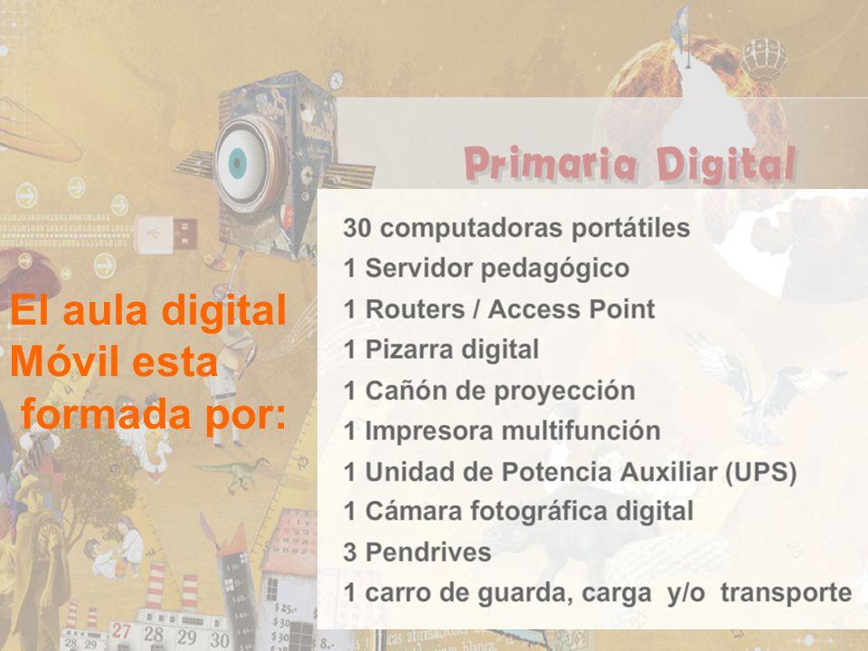 El aula digital Móvil esta formada por: