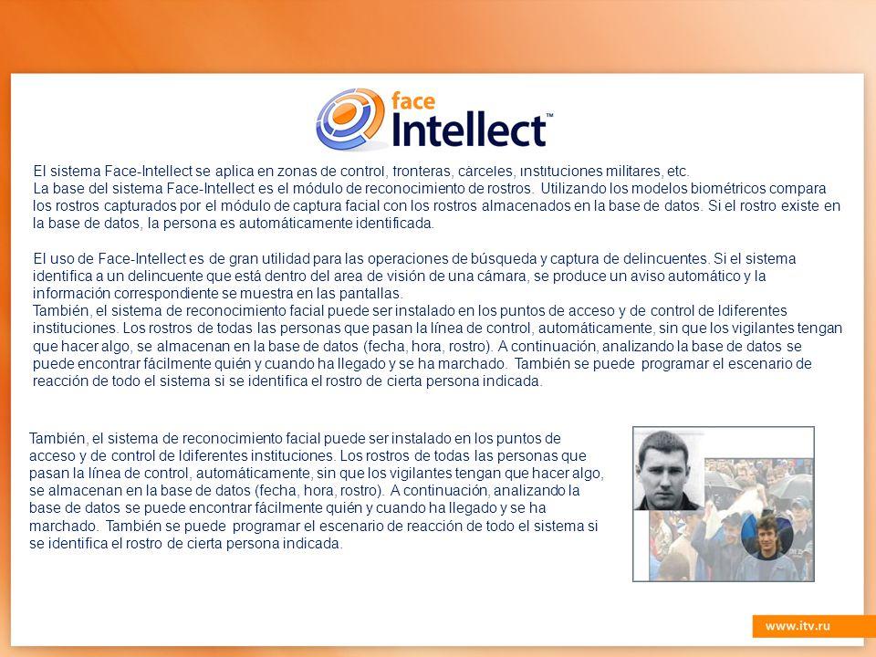También, el sistema de reconocimiento facial puede ser instalado en los puntos de acceso y de control de ldiferentes instituciones.