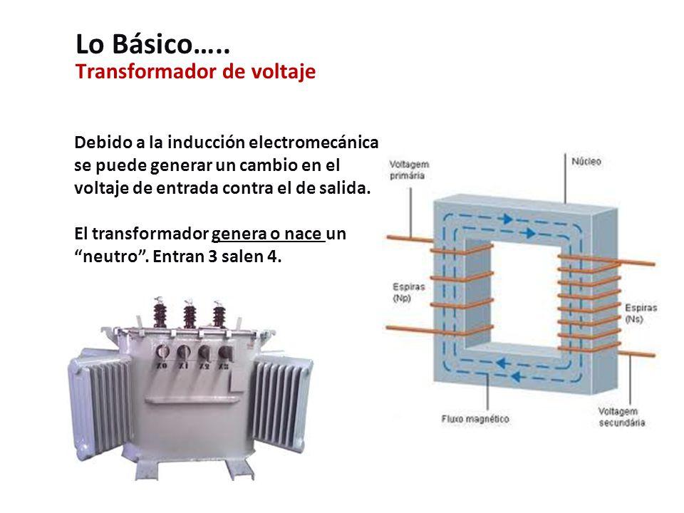 Transformador de voltaje Debido a la inducción electromecánica se puede generar un cambio en el voltaje de entrada contra el de salida.