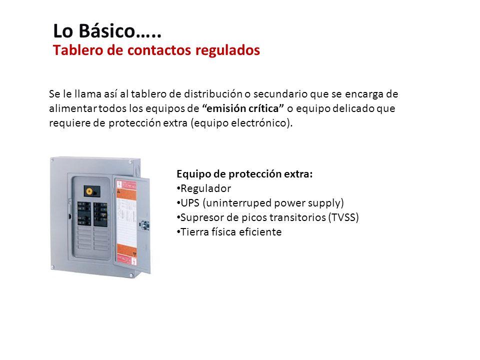 Tablero de contactos regulados Lo Básico…..