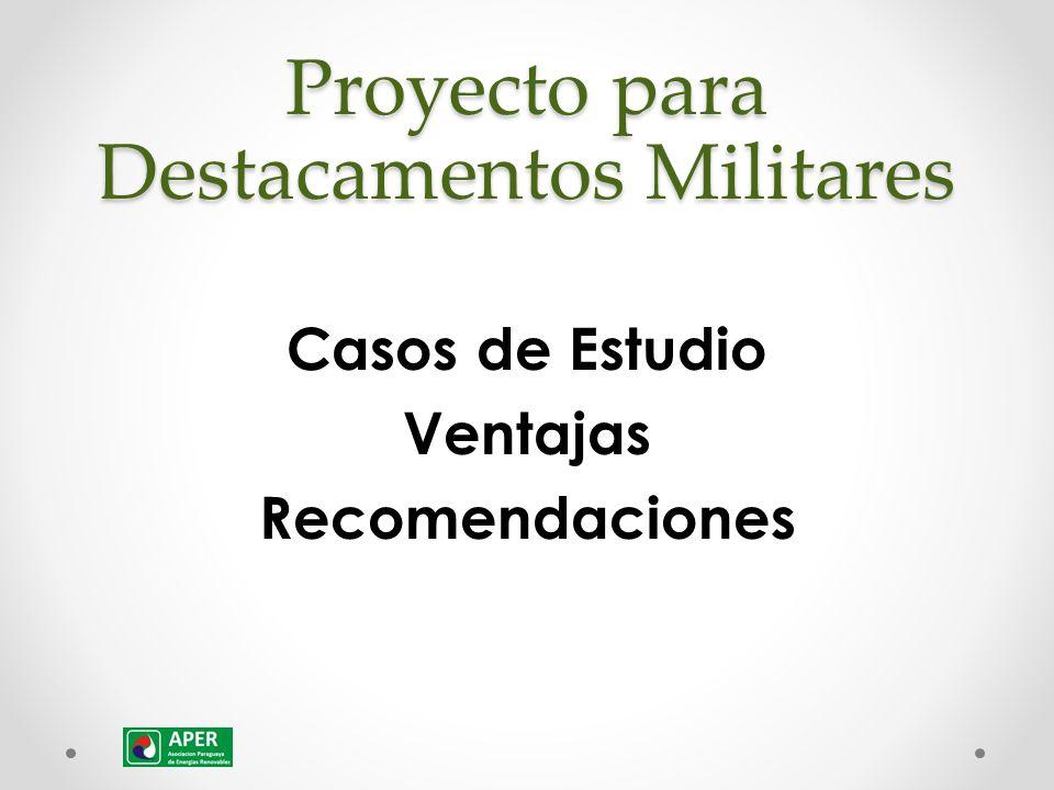 Proyecto para Destacamentos Militares Casos de Estudio Ventajas Recomendaciones