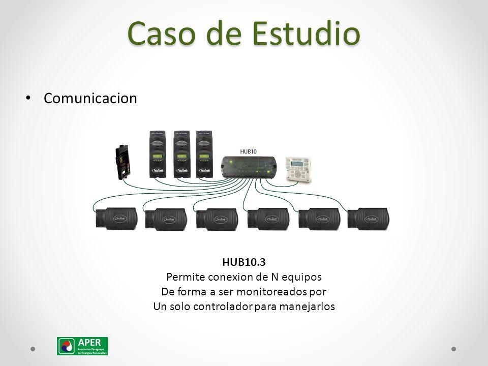 Comunicacion HUB10.3 Permite conexion de N equipos De forma a ser monitoreados por Un solo controlador para manejarlos Caso de Estudio