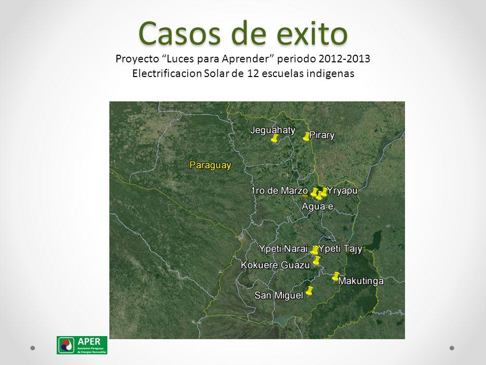 Casos de exito Proyecto Luces para Aprender periodo 2012-2013 Electrificacion Solar de 12 escuelas indigenas