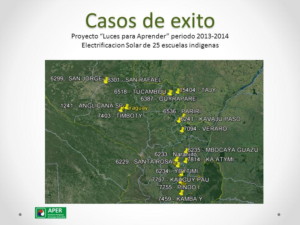 Casos de exito Proyecto Luces para Aprender periodo 2013-2014 Electrificacion Solar de 25 escuelas indigenas