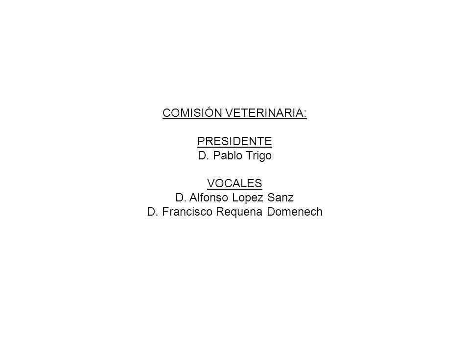 JURADO DE CAMPO: PRESIDENTE D. Andres Gomez Gabardino, TLF, 625561541 VOCALES D.
