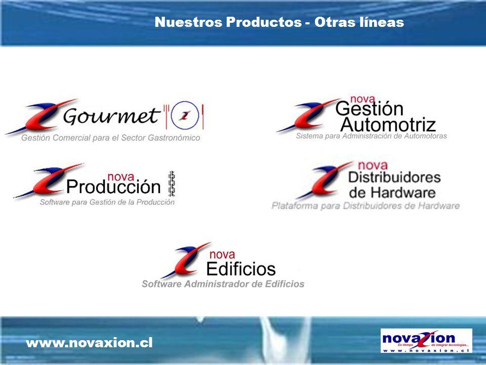 www.novaxion.cl Nuestros Productos - Otras líneas