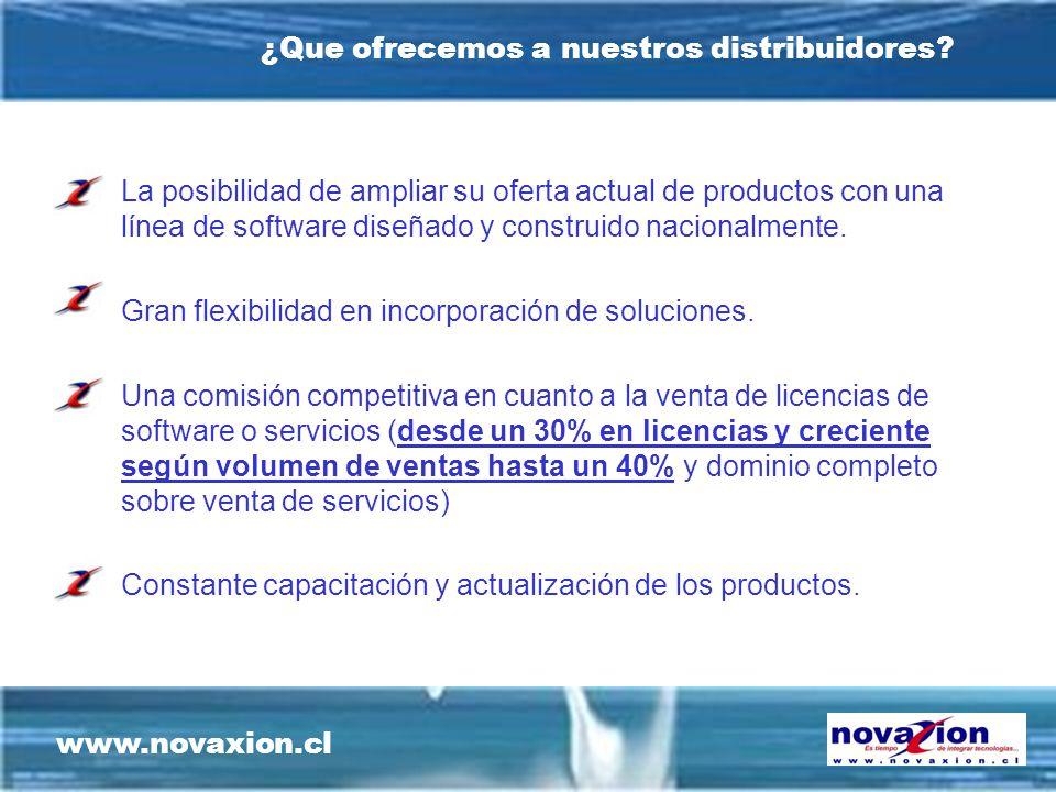 www.novaxion.cl ¿Que ofrecemos a nuestros distribuidores.
