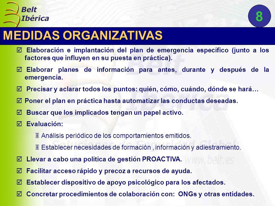  Elaboración e implantación del plan de emergencia específico (junto a los factores que influyen en su puesta en práctica).