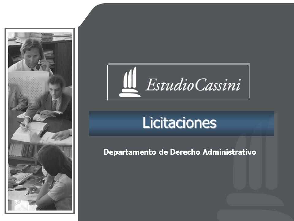Licitaciones Departamento de Derecho Administrativo