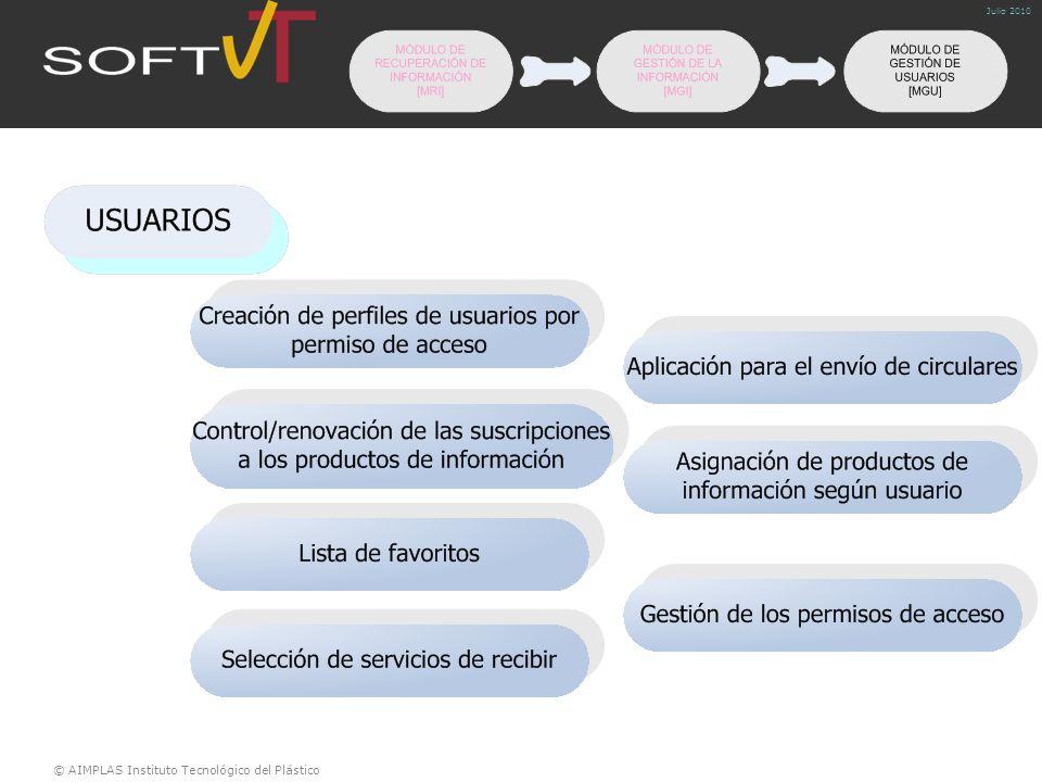 © AIMPLAS Instituto Tecnológico del Plástico Julio 2010