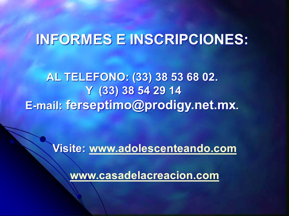 INFORMES E INSCRIPCIONES: AL TELEFONO: (33) 38 53 68 02.