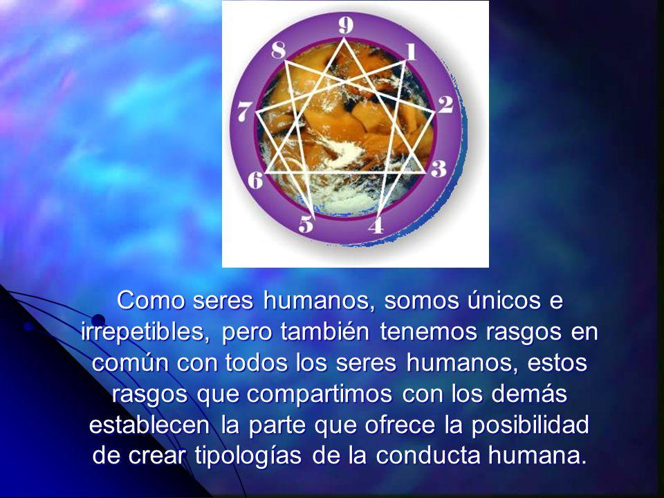 Como seres humanos, somos únicos e irrepetibles, pero también tenemos rasgos en común con todos los seres humanos, estos rasgos que compartimos con los demás establecen la parte que ofrece la posibilidad de crear tipologías de la conducta humana.