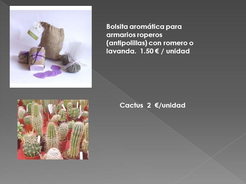 Bolsita aromática para armarios roperos (antipolillas) con romero o lavanda.