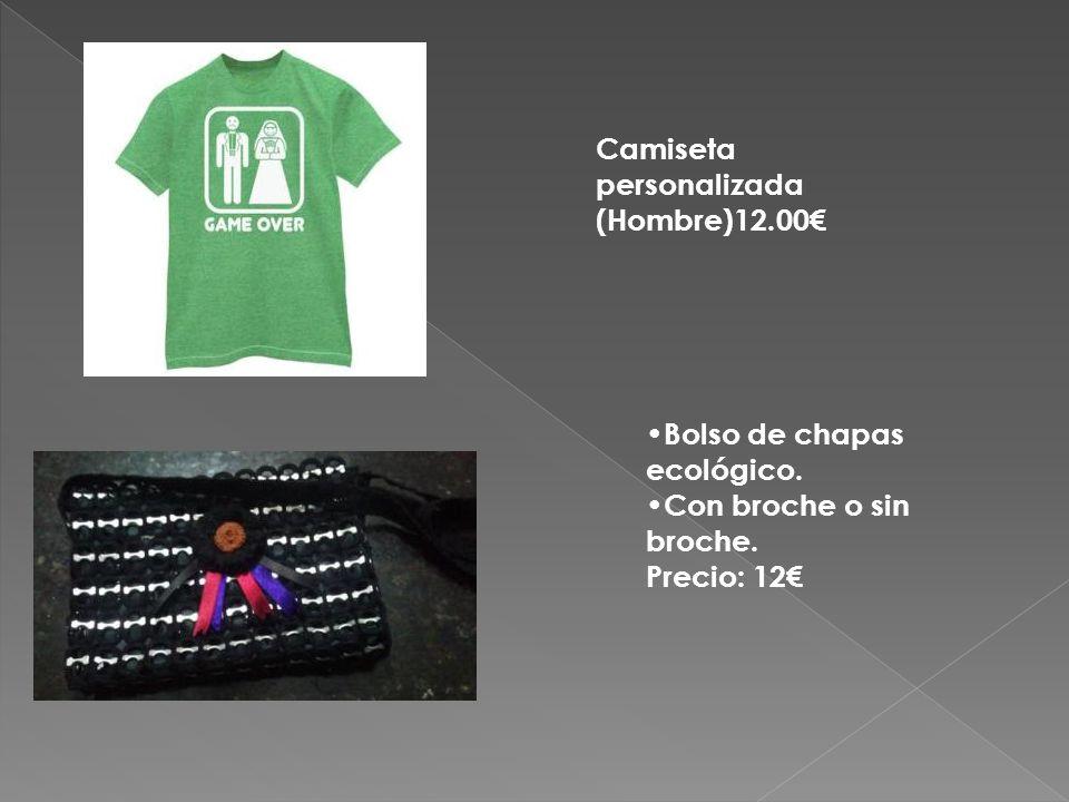 Camiseta personalizada (Hombre)12.00€ Bolso de chapas ecológico.