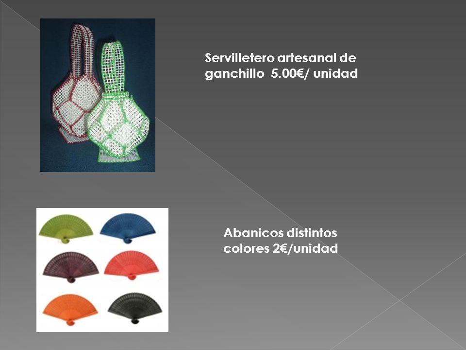 Servilletero artesanal de ganchillo 5.00€/ unidad Abanicos distintos colores 2€/unidad