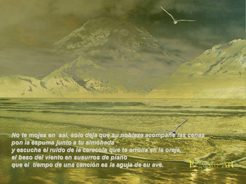 Inexorable destino, arena y piedra, cima.. y, siempre agua.