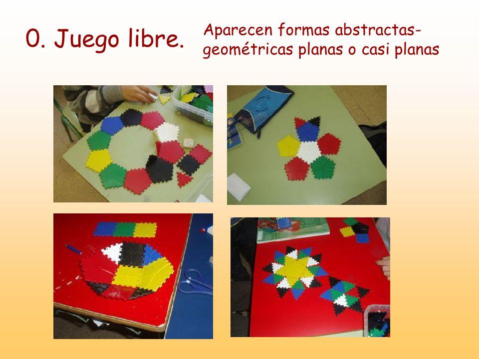 0. Juego libre. Aparecen formas abstractas- geométricas planas o casi planas