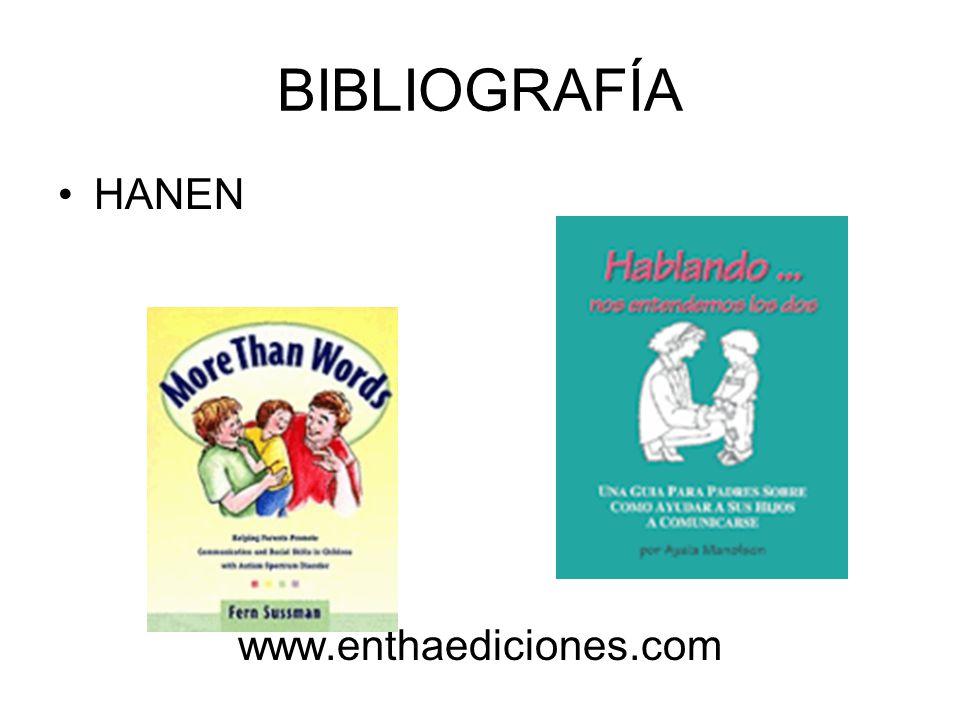 BIBLIOGRAFÍA HANEN www.enthaediciones.com