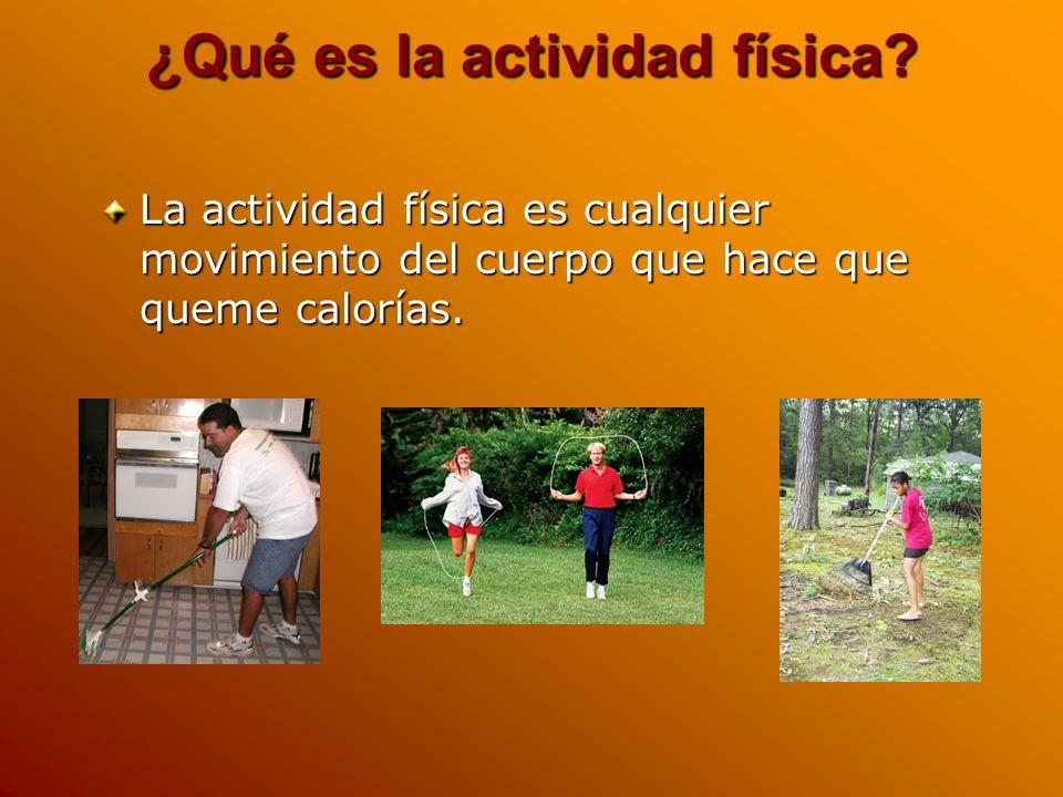 ¿Qué es la actividad física.