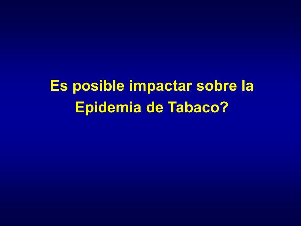 Es posible impactar sobre la Epidemia de Tabaco