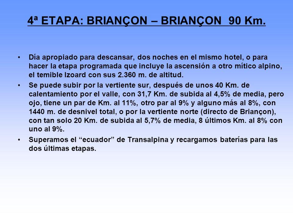 4ª ETAPA: BRIANÇON – BRIANÇON 90 Km.