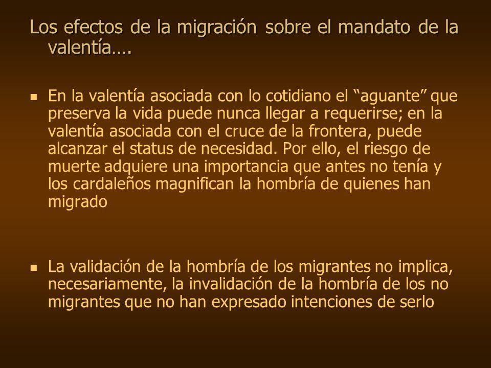 Los efectos de la migración sobre el mandato de la valentía….