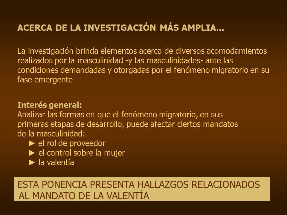ACERCA DE LA INVESTIGACIÓN MÁS AMPLIA...