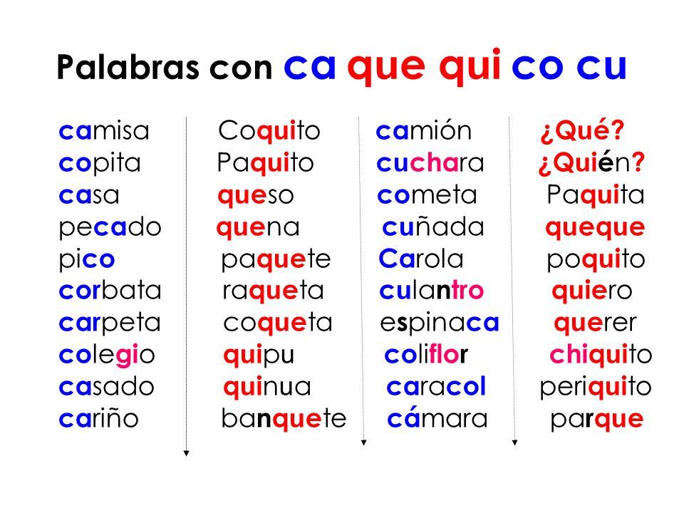 Combinaciones Entre Consonantes C D G K ñ Q W Y Z Lessons Blendspace