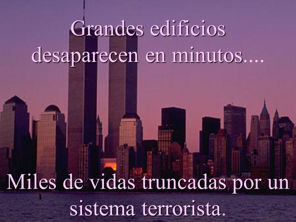 Grandes edificios desaparecen en minutos minutos....