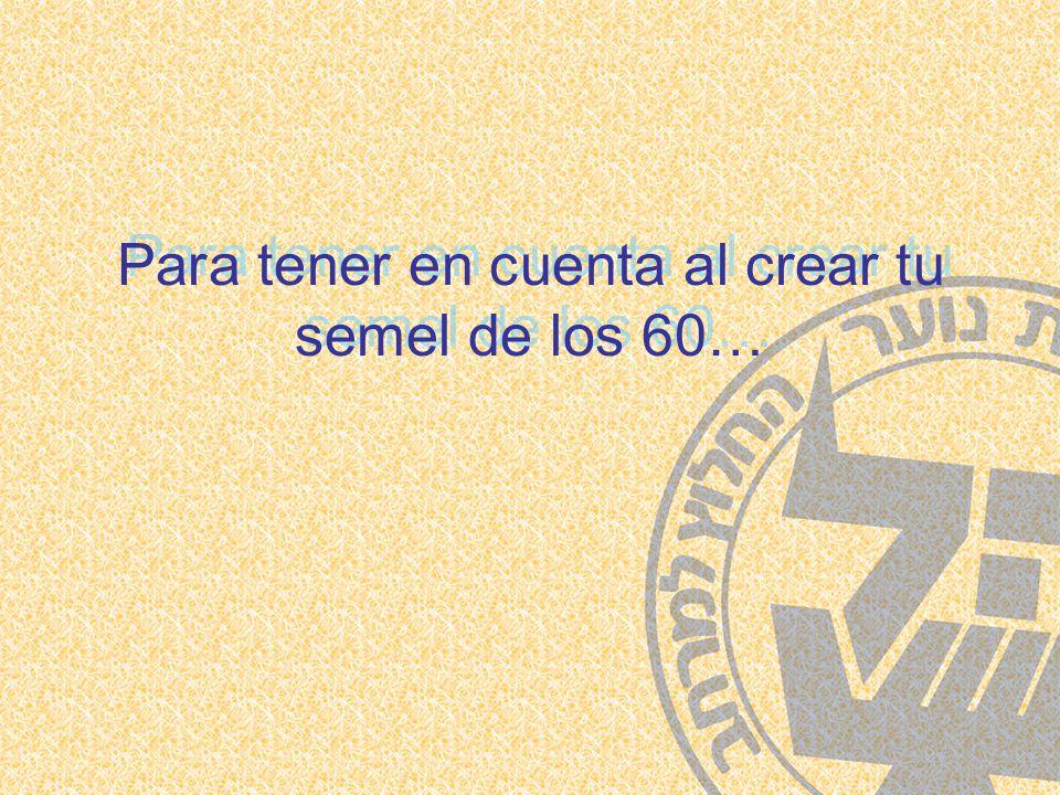 Para tener en cuenta al crear tu semel de los 60… Para tener en cuenta al crear tu semel de los 60…