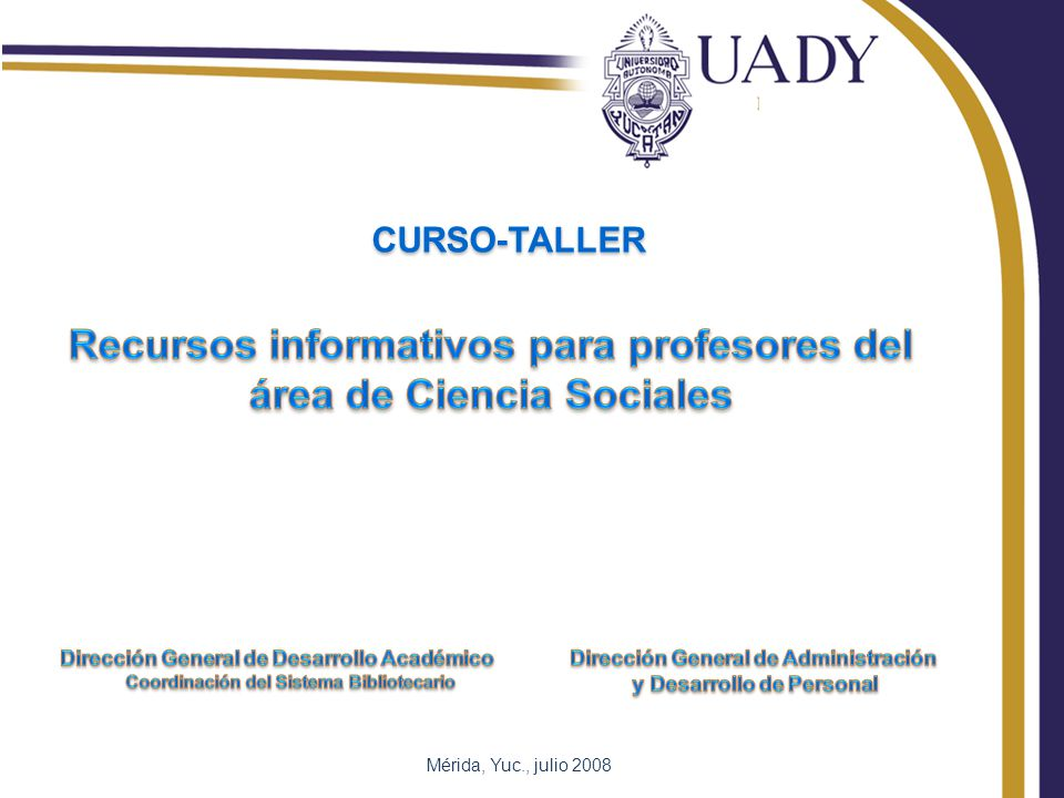 Mérida, Yuc., julio 2008 CURSO-TALLER