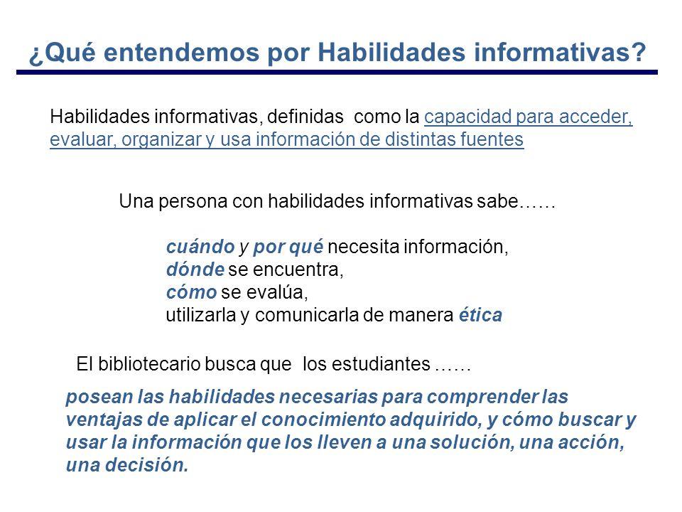 ¿Qué entendemos por Habilidades informativas.