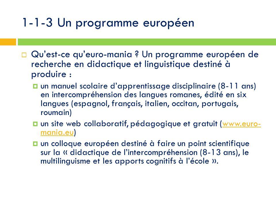1-1-3 Un programme européen  Qu'est-ce qu'euro-mania .