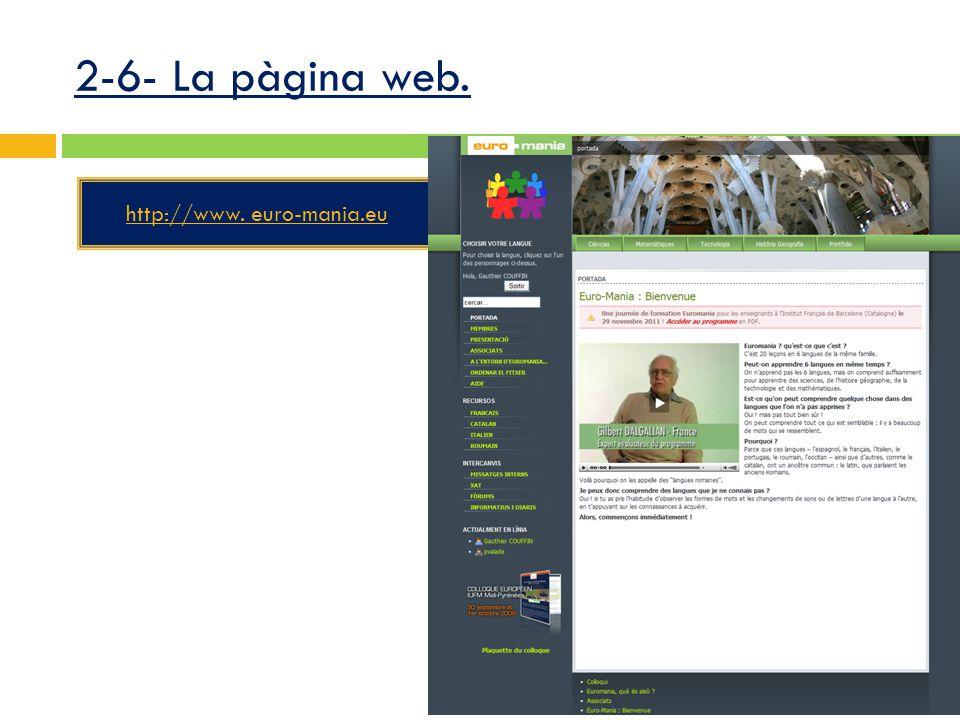 2-6- La pàgina web. http://www. euro-mania.eu