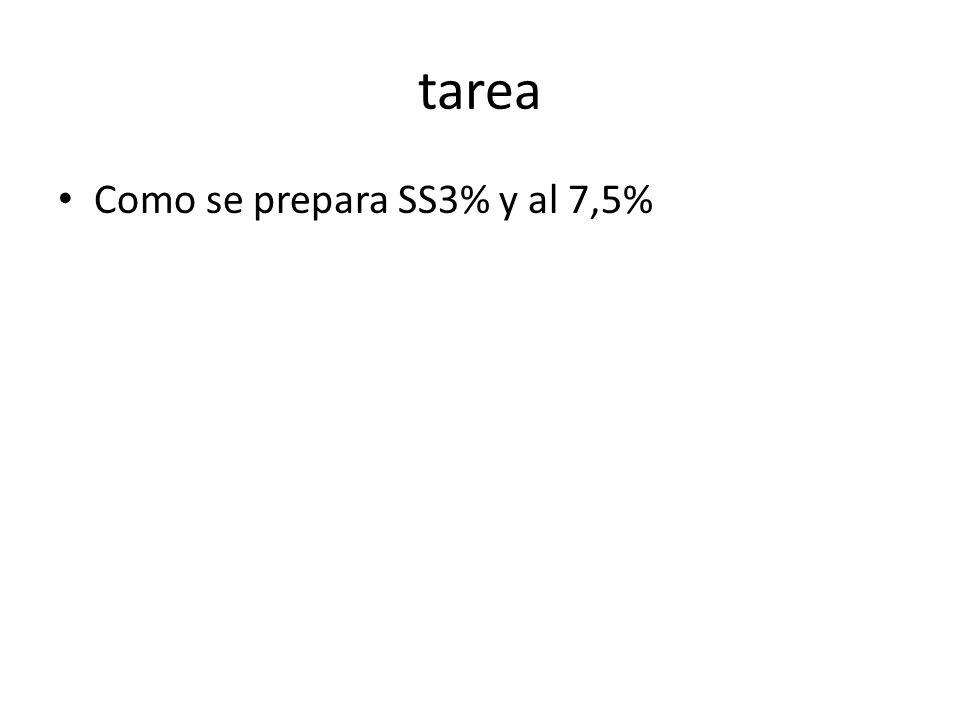 tarea Como se prepara SS3% y al 7,5%