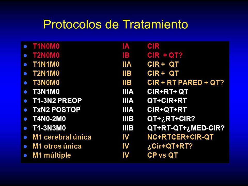 Protocolos de Tratamiento T1N0M0IACIR T2N0M0IBCIR + QT.