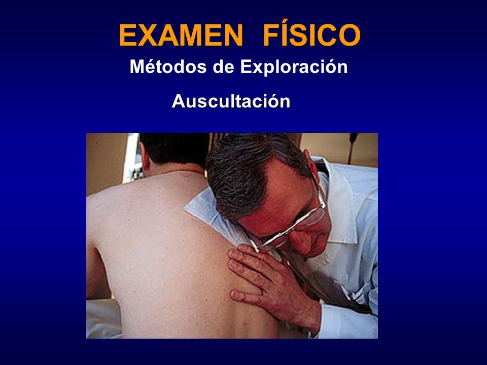 EXAMEN FÍSICO Métodos de Exploración Auscultación
