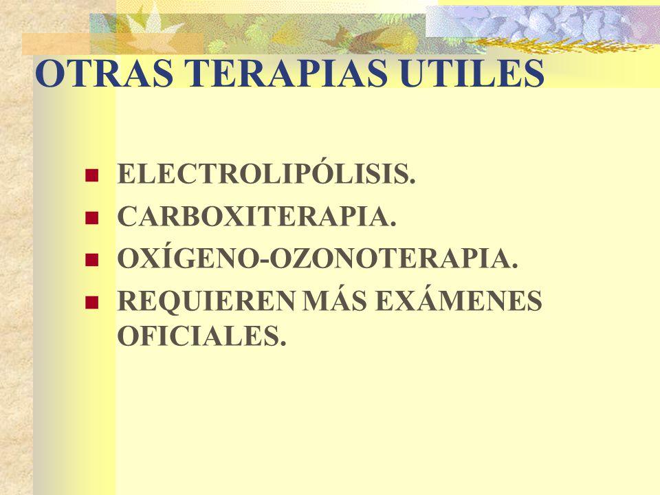 OTRAS TERAPIAS UTILES ELECTROLIPÓLISIS. CARBOXITERAPIA.