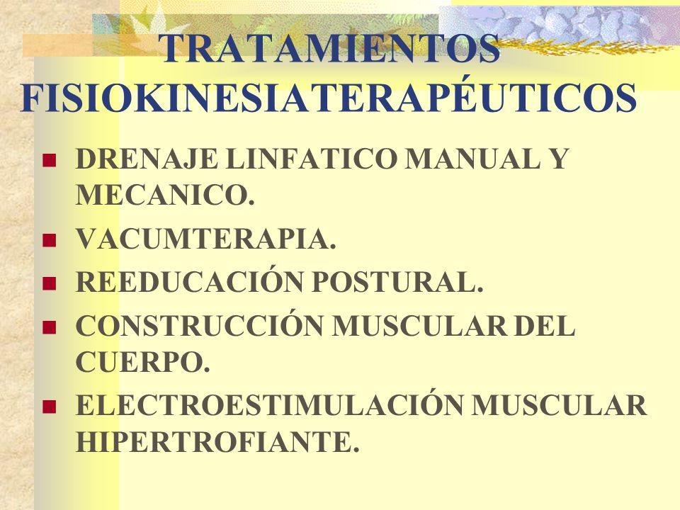 TRATAMIENTOS FISIOKINESIATERAPÉUTICOS DRENAJE LINFATICO MANUAL Y MECANICO.