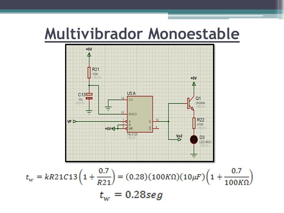 Multivibrador Monoestable