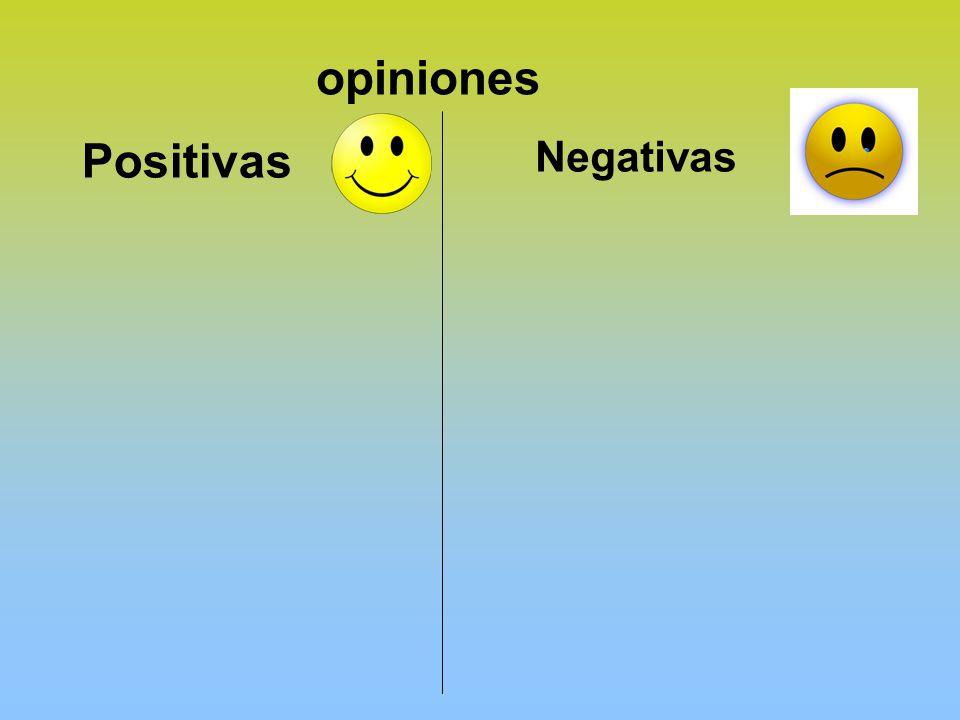 opiniones Positivas Negativas