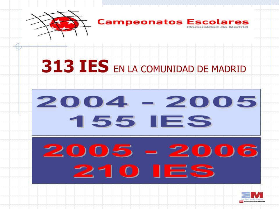 313 IES EN LA COMUNIDAD DE MADRID