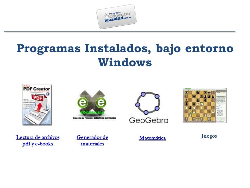 Generador de materiales Lectura de archivos pdf y e-books Matemática Juegos