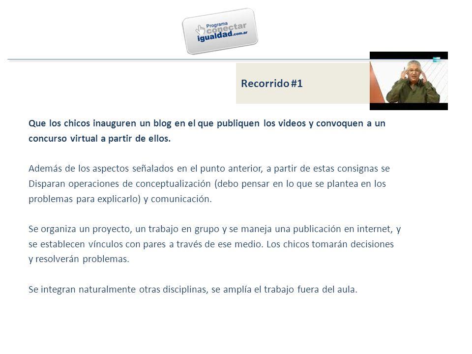 Que los chicos inauguren un blog en el que publiquen los videos y convoquen a un concurso virtual a partir de ellos.