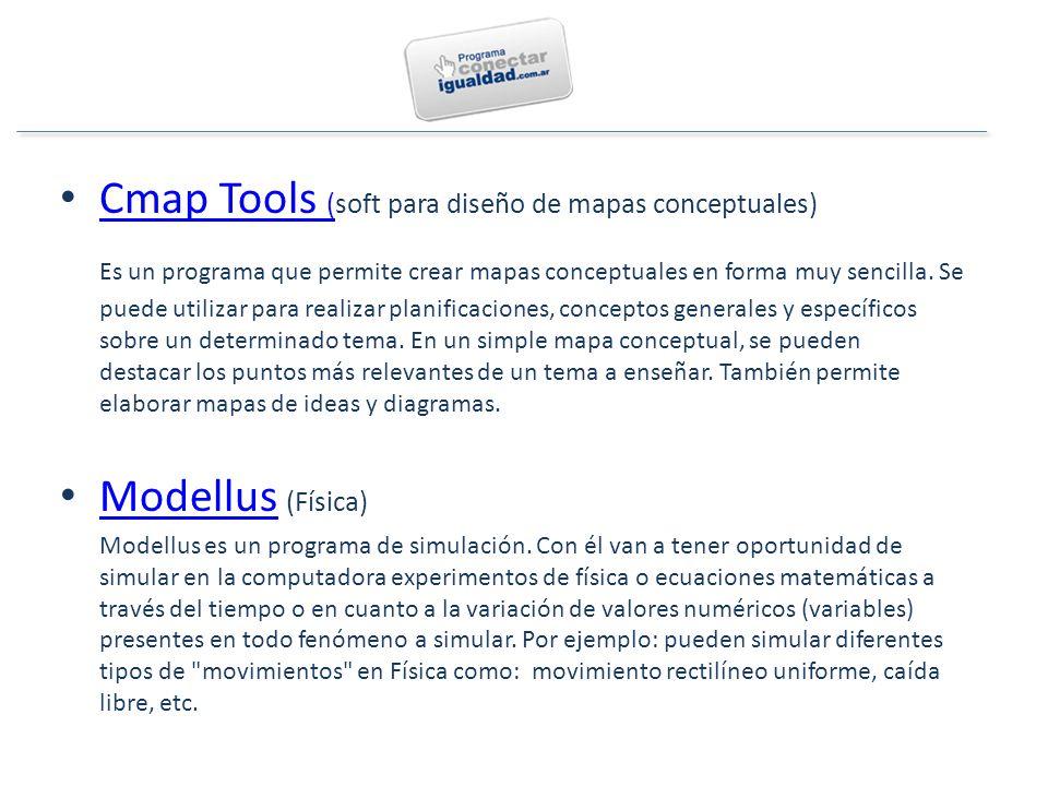 Cmap Tools (soft para diseño de mapas conceptuales) Cmap Tools ( Es un programa que permite crear mapas conceptuales en forma muy sencilla.