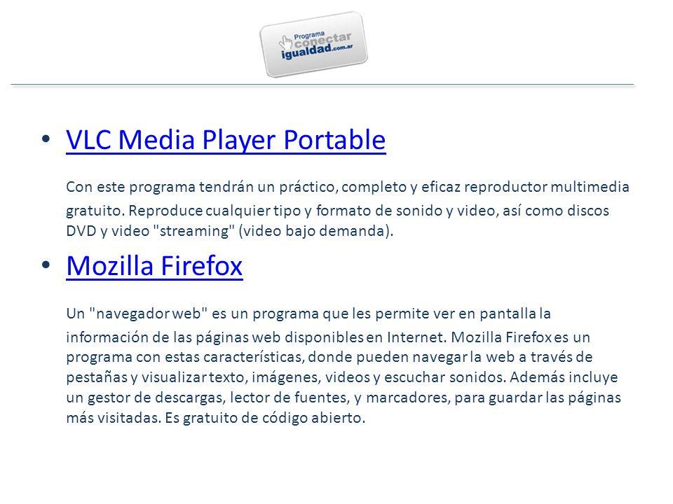 VLC Media Player Portable Con este programa tendrán un práctico, completo y eficaz reproductor multimedia gratuito.