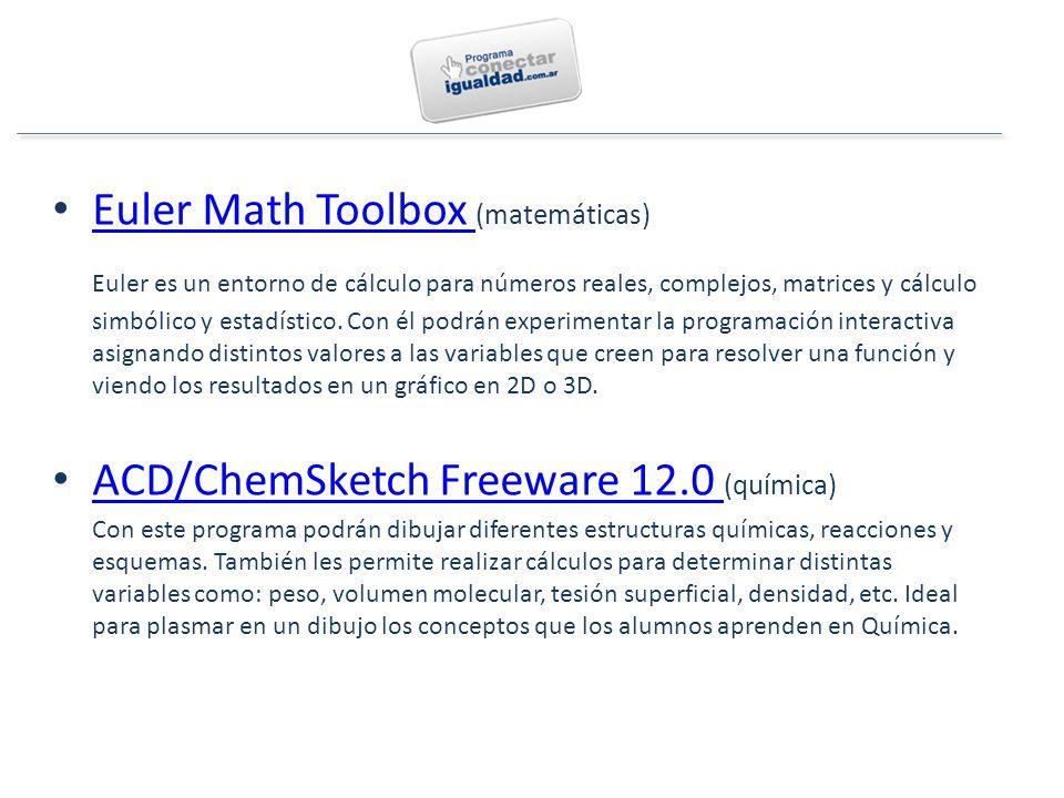 Euler Math Toolbox (matemáticas) Euler Math Toolbox Euler es un entorno de cálculo para números reales, complejos, matrices y cálculo simbólico y estadístico.